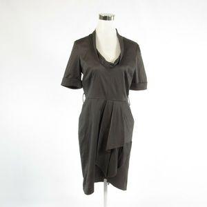 Reiss gray 1/2 sleeve sheath dress 8